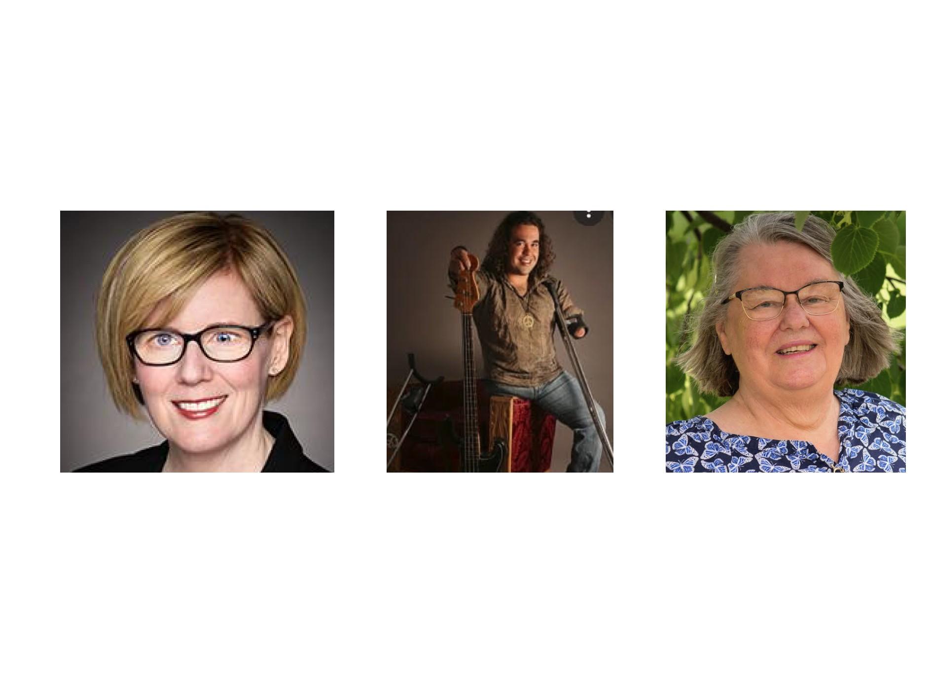 Carla Qualtrough, Martin Deschamps and Jayne Melville Whyte